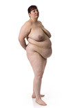 Overweight heavy nude female artist model