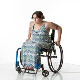 360 degree views of a female art model with spina bifida posing in her wheelchair. Perfect reference photos for sculptors and painters.