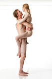 Nude male and female art models in 360 degree reference pose perfect for use by sculptors, painters and art students