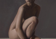 Nude painting by Mike Skidmore based on reference photos at www.artmodels360.com
