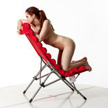 360 degree artistic reference photos of a nude female art model for sculpture, figure drawing and anatomy reference and art students