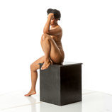 360 degree artist reference photos of a nude full figured African American female figure model for sculpture and figure art