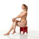 360 degree artistic reference photos of a tall blond nude female art model for in poses for figure artists and students