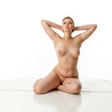 360 degree artistic nude reference photos of a tall blond female art model posed for figure painters and sculptors