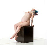 360 degree art reference photos showing a nude pregnant woman posed for painters and sculptors