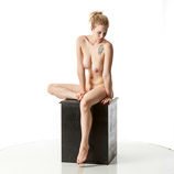 360 degree nude art photos of a tall blond female life drawing model artistic reference poses for artists and students