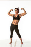 360 degree art reference photos of a female fitness art model for use by sculptors, painters and students