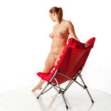 360 degree nude art reference photos of a tall blond female art model posed for figure painters and sculptors