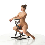360 degree reference photos of a nude brunette female art model in poses for digital artists and sculpture students