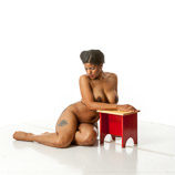 360 degree artist reference photos of a nude full figured African American woman figure model for sculpture and figure art