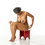 360 degree artist reference photos of a nude full figured black woman figure model for sculpture and figure art