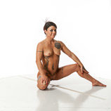 360 degree nude art reference photos of a female fitness instructor and model for use by figure artists and art students